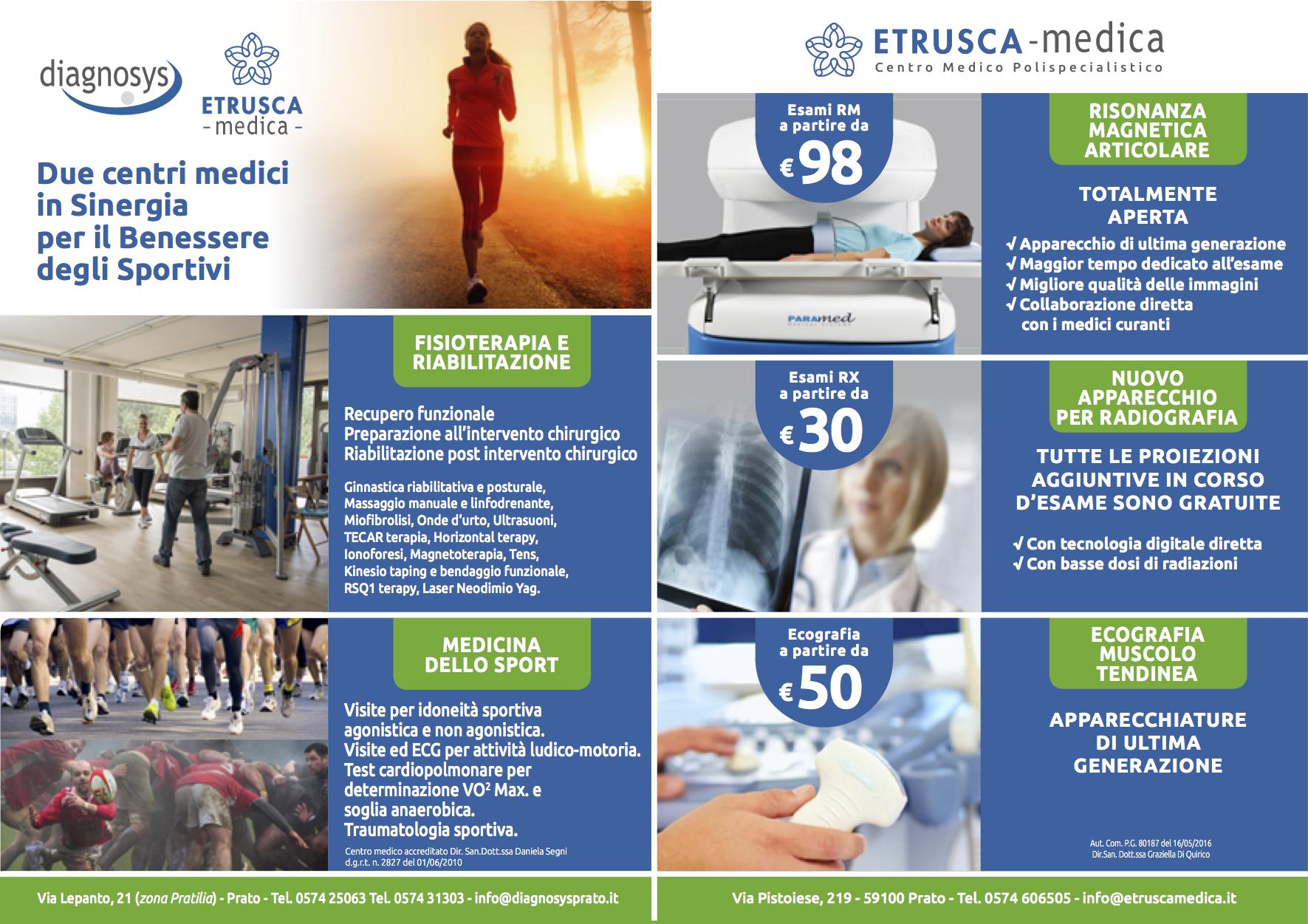 Benessere degli Sportivi diagnosys etrusca medica