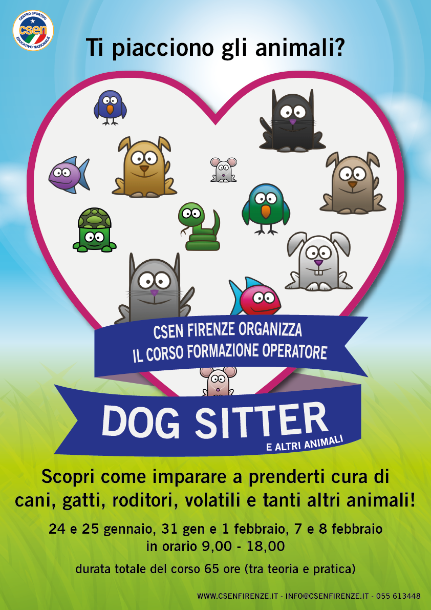 Corso operatore dog sitter co csenfirenze for Cerco dog sitter