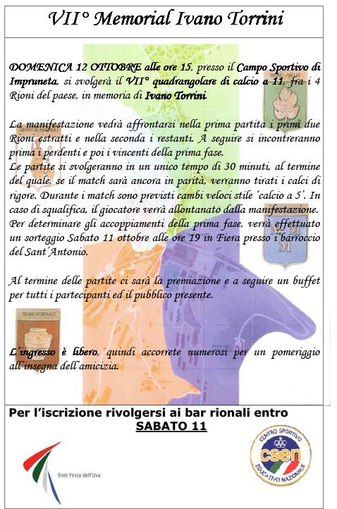 VII° Memorial Ivano Torrini csen