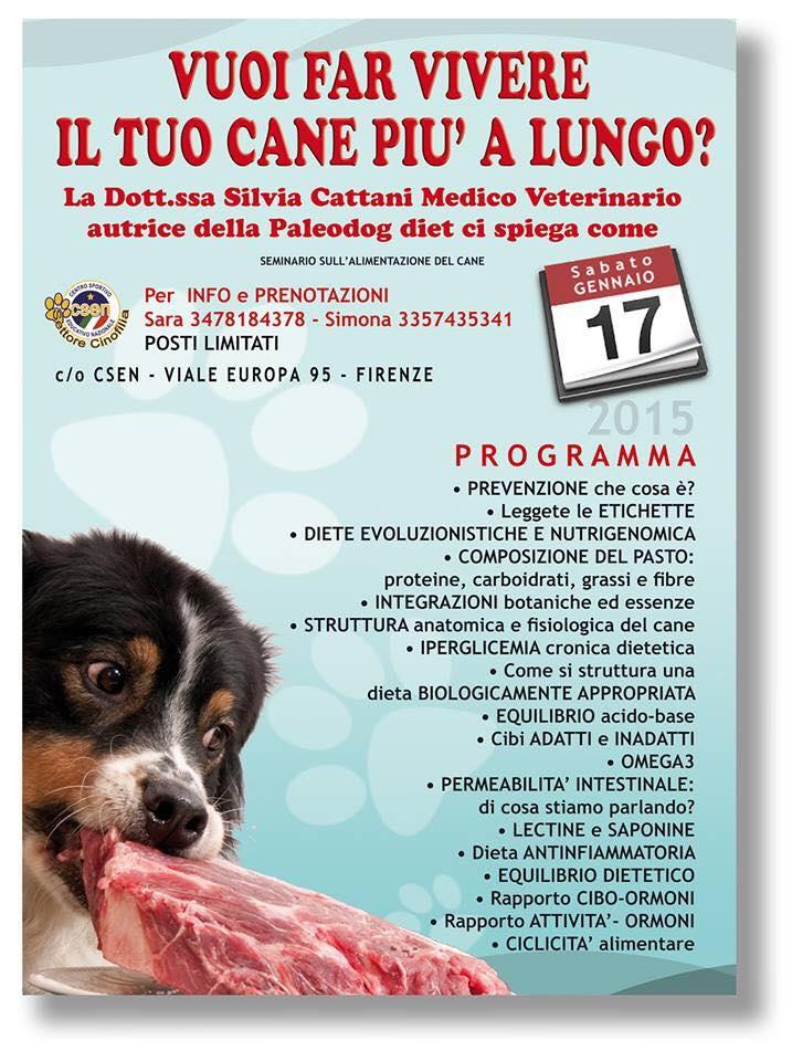 seminario sull'alimentazione del cane