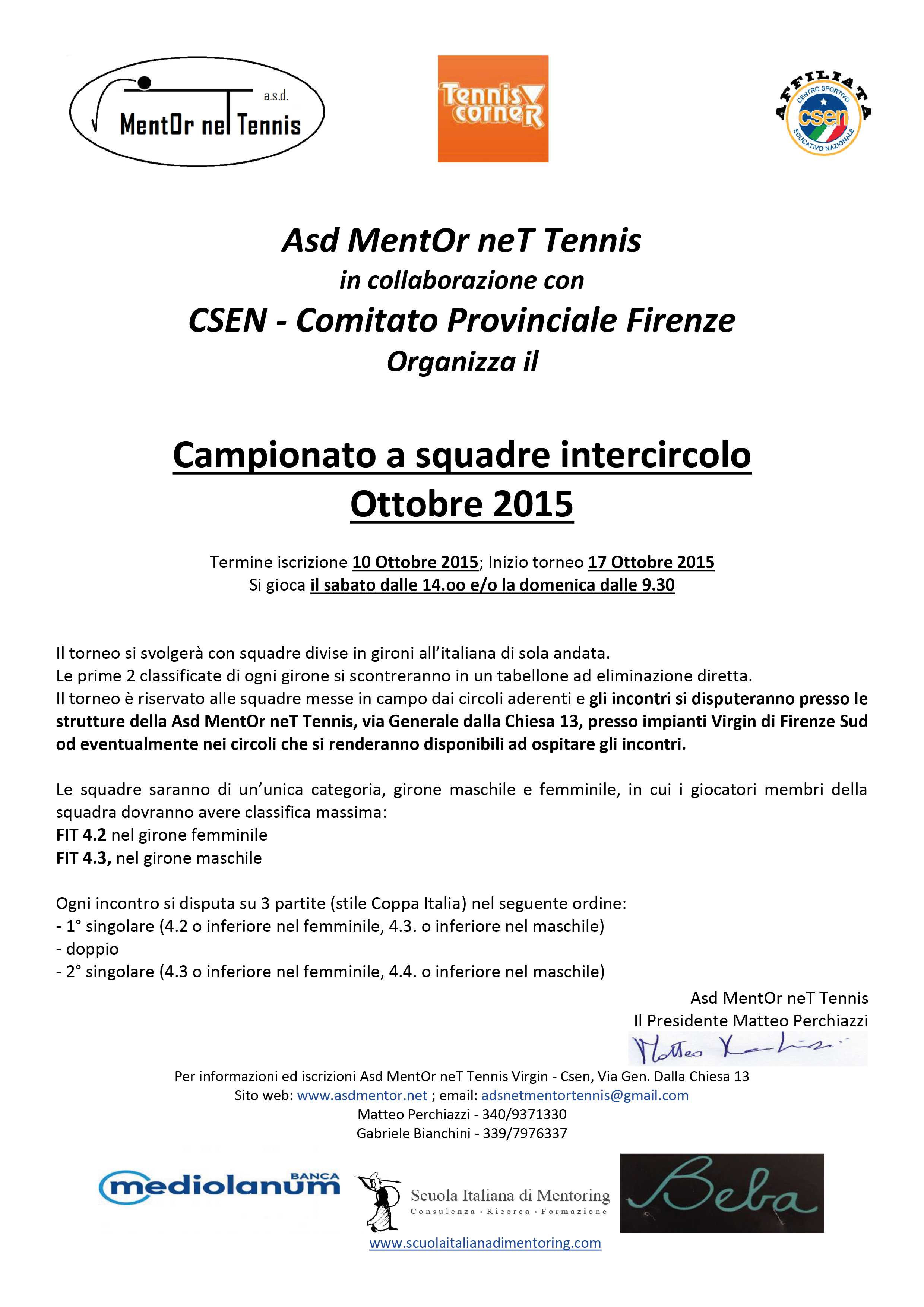 Campionato tennis a squadre Intercircolo 17 Ottobre 2015 Maschile e femminile-01