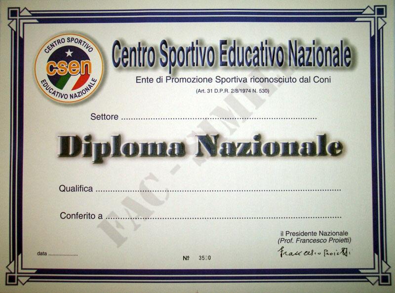 diploma nazionale fac simile