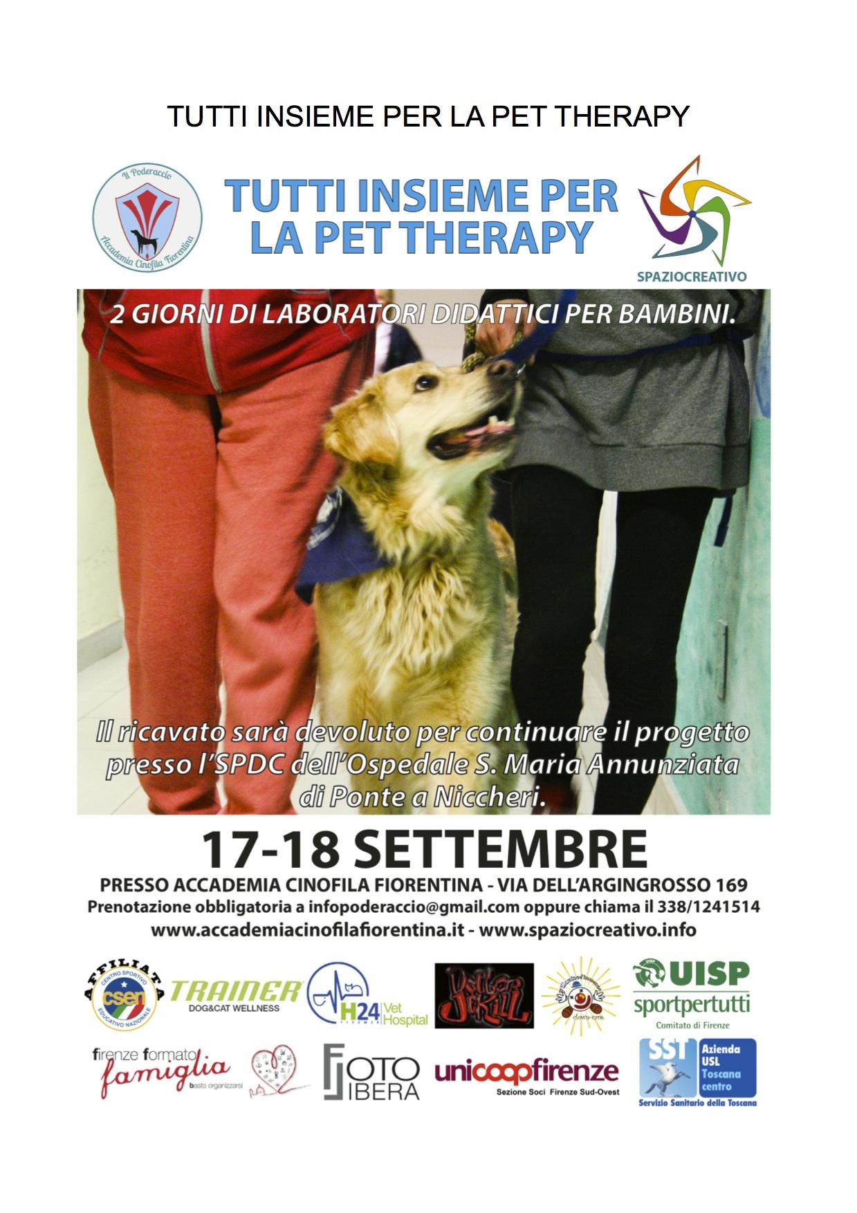 insieme per la pet therapy+ LOCANDINE