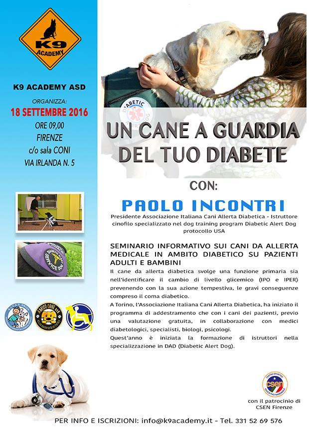 un cane a guardia del tuo diabete