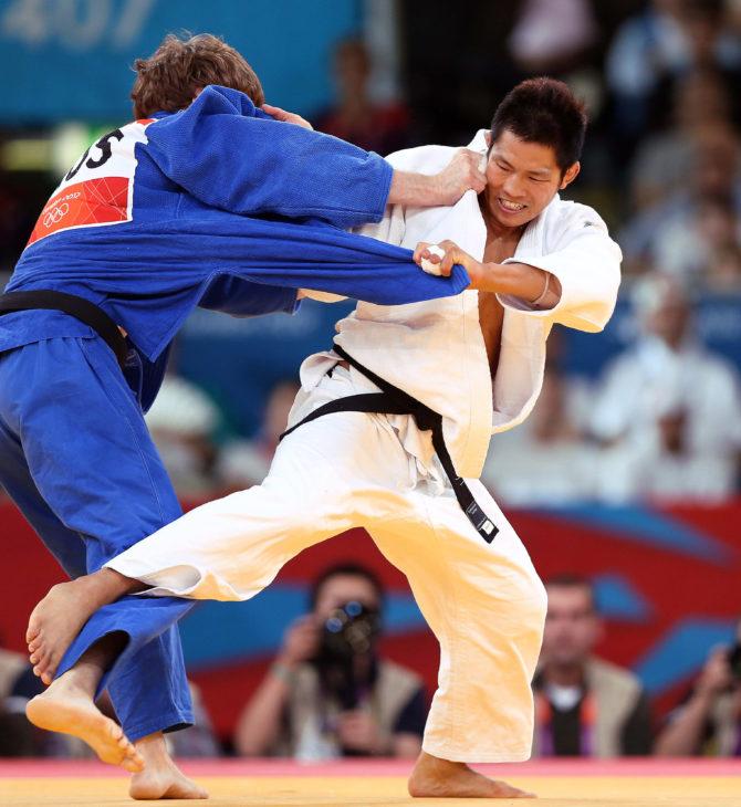 2012 London Olympic Games  Korea Judo, Kim Jae-bum won the Semi-Final -81kg match  2012.07.31  Photo by Korean Olympic Committee   Ministry of Culture, Sports and Tourism Korean Culture and Information Service  --------------------------------------  2012 런던 올림픽  한국 남자 유도 -81kg 김재범 준결승전  사진제공 - 대한체육회  문화체육관광부 해외문화홍보원